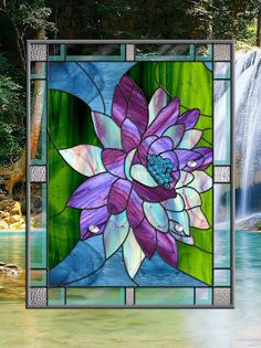 lovely56 Custom Stained Glass Window Panel par stainedglassfusion