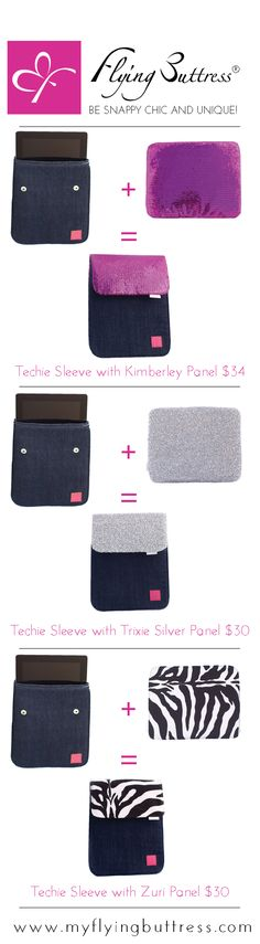 Looking for a cute iPad cover? This is the best one! You can switch out different styles easily by snapping on a new cover. Tablet covers have never cuter.