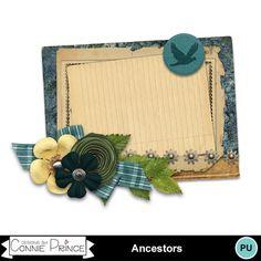 Digital Scrapbooking Kits   Ancestors-Cluster-(cprince)   Family, Heritage   MyMemories