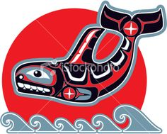 Illustration about Orca (Killer Whale) in American Native Art Style Including Vector Format. Illustration of killer, indian, culture - 22923098 Native American Animals, Native American Images, Native American Artists, Native American Fashion, American Indians, Orca Tattoo, Haida Tattoo, Whale Tattoos, Sketch Manga
