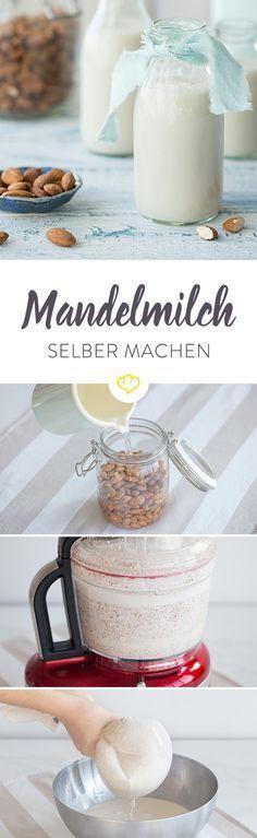 Viele von uns kennen Mandeln aus dem Studentenfutter-Mix oder in Form von Marzipan, doch es steckt noch viel mehr in ihnen. Aus der Mandel lässt sich ganz einfach eine leckere Milch herstellen, die eine ideale Alternative zu Kuhmilch ist. Sie enthält ebenfalls viel Eiweiß und ist genauso vielseitig einsetzbar.