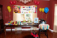 Baby Einstein first birthday party banner idea Baby First Birthday, First Birthday Parties, Birthday Stuff, Birthday Ideas, Baby Einstein Party, Happy 1st Birthdays, Shadow Box, Party Planning, Fun