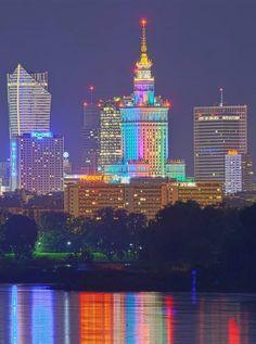 Night lights # Warsaw Centrum