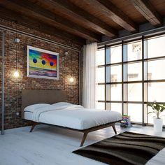 platform bed, bedframe, queen, modern, mid-century, mid century, bed frame, slat, midcentury