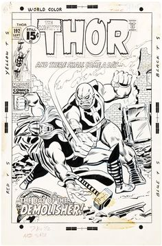 the cover to The Mighty Thor #192 by Sal Buscema and Frank Giacoia