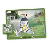 The Songbirds Placemat and Coaster Set - Chickadee