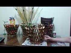 tutorial de canasta con tubos de papel higienico   Marlin Fly - YouTube