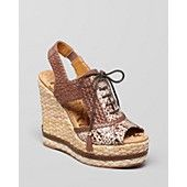 Sam Edelman Open Toe Lace Up Wedge Sandals - Tinley - Jury's out on this one!