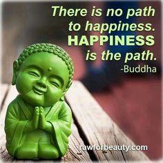 Buddha on Happiness. #littlebuddha #happybuddha