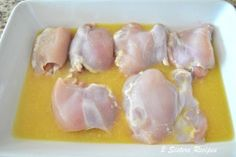 Chicken Thighs with Lemon, Garlic & Thyme - 2 Sisters Recipes by Anna and Liz Lemon Garlic Chicken Thighs, Gluten Free Chicken, Roast, Sisters, Anna, Baking, Vegetables, Desserts, Recipes