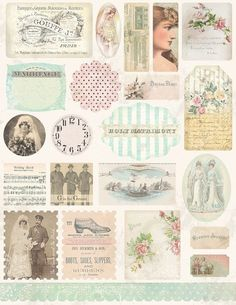 Vintage Wedding Tags and Embellishments