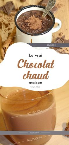 Le vrai Chocolat chaud maison Biscuits, Brunch, Pudding, Chocolate, Mousse, Food, Drinks, Homemade Chocolates, Home Made Nutella