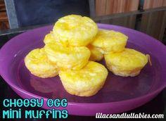 Egg and Cheese Mini Muffins Perfect for Toddler or Infant Breakfast Finger Foods | lilacsandlullabies.com