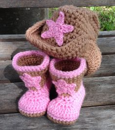 Yeehaw Cowboy Boots and Cowboy Hat Boy or Girl by BabyByBecca, $30.00