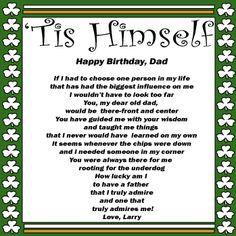 Tis himself Happy Fathers Day Poems, Fathers Day Gifts, Great Father's Day Gifts, Gifts For Dad, Poetry, Dads, Happy Birthday, Wisdom, Teaching