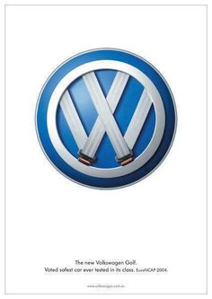 cool Great art direction for the VW Golf ... voted safest car ever in its class....