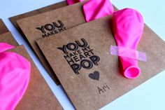love & lion: BALLOON VALENTINES FOR KIDS (FREE PRINTABLE)  non candy valentine for kids, DIY