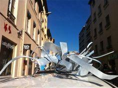 REAL 3D graffiti Sculpture 2013  by artist REZINE
