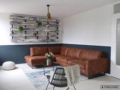 HomingXL Hoekbank Riverdance chaise longue rechts - leer Colorado cognac 03 - 2,90 x 2,17 mtr breed