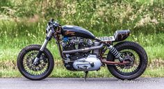 Harley Ironhead Cafe Racer from France - Pat Barabas #motorcycles #caferacer #motos | caferacerpasion.com
