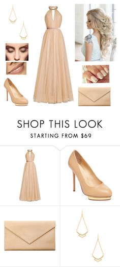 """Beautiful"" by paoladouka on Polyvore featuring Jenny Packham, Charlotte Olympia, Carré Royal, Gorjana and Claire Evans"