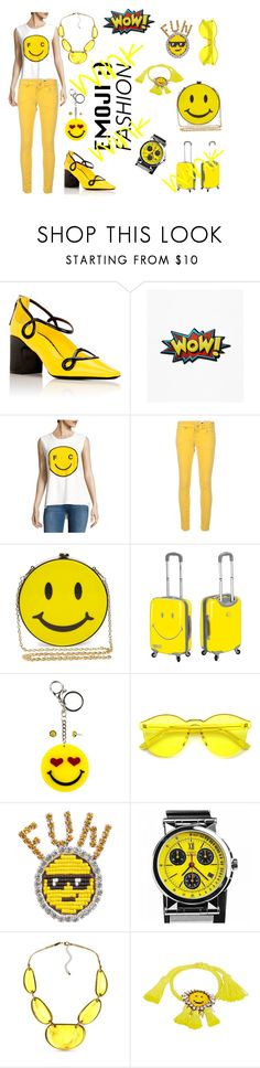 """Emoji fashion"" by tanyakc on Polyvore featuring мода, Fabrizio Viti, French Connection, M Missoni, Natasha, PB Travel, Carole, Shourouk, Movado и Kim Rogers"