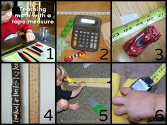 Toddler Math: 20 ideas to practice measuring and you can measure with so many things other than rulers!