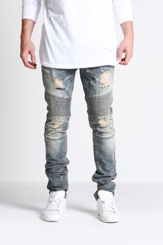 Lincoln Biker Denim (Blue)