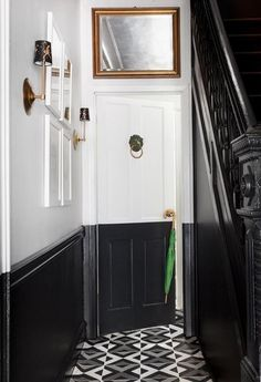 Make a statement: paint only the bottom half of the entryway.