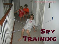 Spy Training.  Some rainy day fun. LOL Well how fun is that?!! What a great thing for kids!