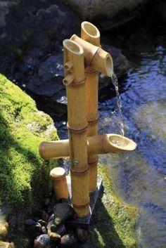 Deer Scarer Bamboo Fountain w/pump