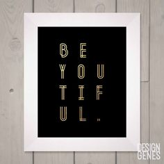 Be yourself cuz everyone else is taken. #beyoutiful #goldandblack print now available follow link in bio!  #inspirationalprint #modernminimalist #minmalistprint #typography  @feministvoice @femislay @feminist.inc #printablewallart #greetingcards #personalizedmugs #coffeemugs #designgenes