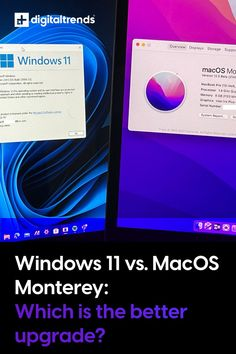 If you're looking to buy a new computer (or update your existing one) this holiday season, then there's the chance it will be powered by one of two operating systems: MacOS Monterey, or Windows 11. One of these is designed by Apple specially for Macs, and the other by Microsoft for a wide range of PCs and tablets. We've tried both MacOS Monterey and Windows 11, and we've got you covered with a look at some of the major differences between the two. Macbook Pro 13 Inch, Digital Trends, Looking To Buy, Microsoft, Macs, Good Things, Windows, Range, Apple