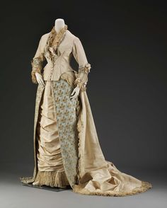 Afternoon Dress, House of Worth, 1880, French, Made of silk, satin, and velvet