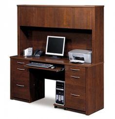 Computer Desk Bookshelf Combo Furniture Pinterest