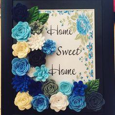 Felt Flowers in Frame
