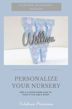 Looking for a gift for a new arrival, this blue elephant nursery monogram is uniquely personal.   Perfect for a new mom, mom to be or baby shower gift #uniquebabygift #babygift #newborn #newarrival #babyshowergift #momtobegift #newmomgift