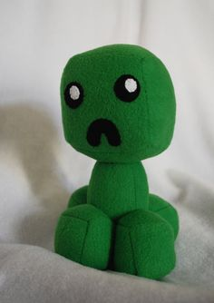 Cute Creeper Plush by Trinkety on Etsy, Minecraft Teddy, Minecraft Toys, Minecraft Creations, Minecraft Crafts, Softies, Plushies, Sewing Projects, Craft Projects, Cute Minions