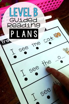 Guided reading level b cvc - reading passages/comprehension Guided Reading Lessons, Guided Reading Levels, Reading Skills, Reading Groups, Guided Reading Activities, Reading Strategies, Kindergarten Reading, Kids Reading, Teaching Reading