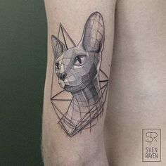 Best Geometric Tattoo - Striking Low Poly, Geometric Tattoos Of Animals And Dinosaurs - DesignTAXI.com