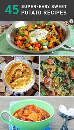 45 Delicious and Healthy Sweet Potato Recipes #healthy #sweetpotato