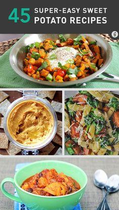 45 Delicious and Healthy Sweet Potato Recipes #healthy #sweetpotato