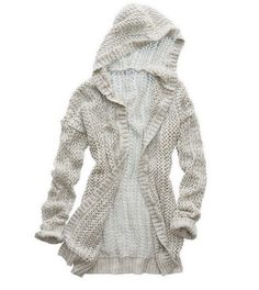 Heather Frost Aerie Hooded Cardigan - A lovely layer! #Aerie