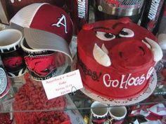 Razorback Cake at Rick s Bakery.  Fayetteville  Ark.  10-04-11