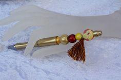 Kugelschreiber - Kugelschreiber schreiben Geschenk gold gelb marsal - ein Designerstück von trixies-zauberhafte-Welten bei DaWanda