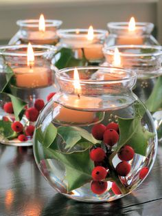 Festive floating candles