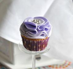 Ruffled Rose Lavender Cupcakes