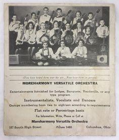 Vintage c1930s Children's Orchestra Dobro Pedal Steel Guitars Columbus OH Photo