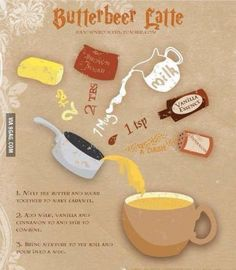 How to make butter beer from Harry Potter!