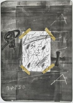 Scotch by Antoni Tàpies -  lithograph 90 x 63cm   image 77 x 55 cm   edition 120, signed and numbered, 1974